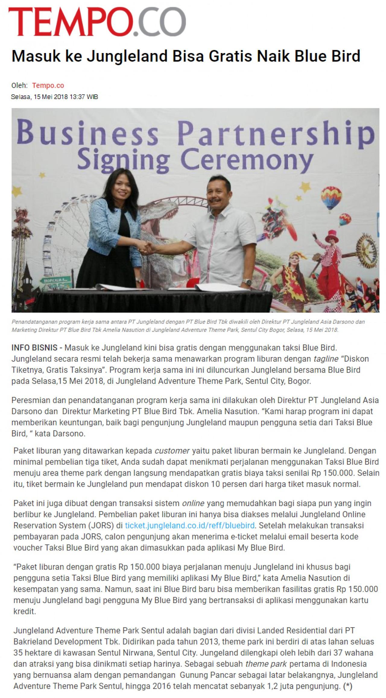 Media Clipping Pt Bakrieland Development Tbk Voucher  35 Persen Jungle Land